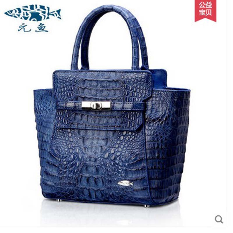 yuanyu crocodile handbag leather handbag handbag aristocratic fashion ladies font b bag b font Mr package