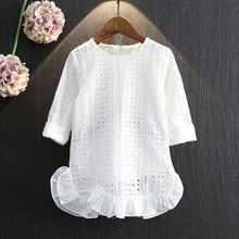 wholesale(5pcs/lot)- 2016 spring autumn beautiful Embroidered Lace Princess Dress for age 2-7 child girl