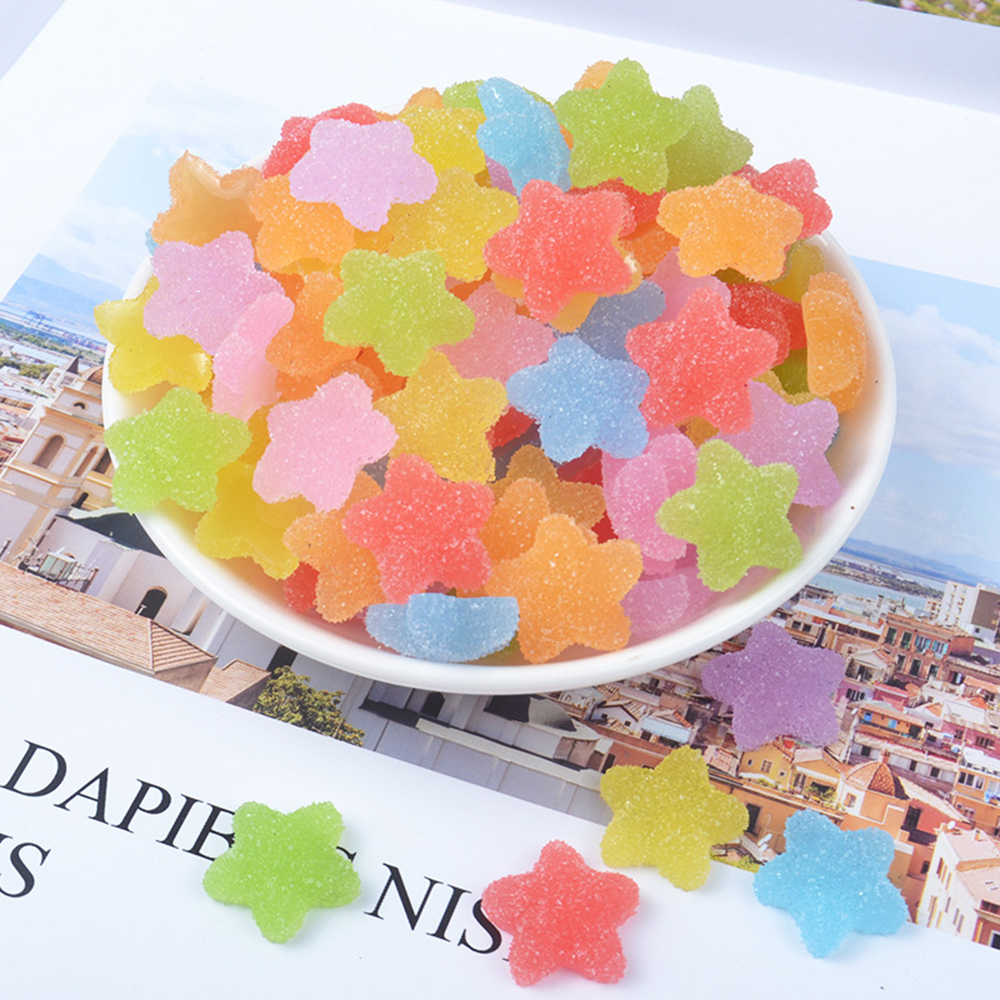 10Pcs Charms Star Sweet Sugar Bead Model Tool For Slime Toys Children Addition Modeling Clay Polymer DIY Accessories For Childs