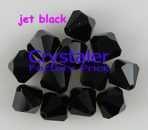 K9 Crystal 5301# Grade AAAA  jet black  color  3mm  4mm 5mm 6mm 8mm  Crystal Bicone Beads