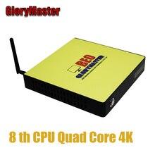 GloryMaster A8 7410 I5 CPU nivel Mini PC DDR3 SSD Quad Core Mini escritorio de la computadora HTPC WIN7 8 10 WIFI RJ45 Oficina 4K