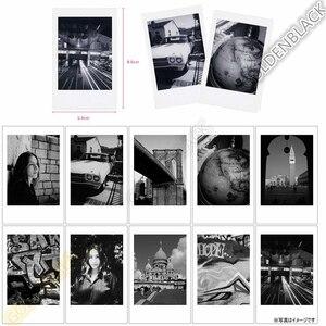 Image 5 - 정품 후지 필름 후지 Instax 미니 필름 단색 모노 + 블랙 프레임 필름 미니 11 9 7s 70 8 플러스 90 25 카메라 SP 1 SP 2 플러스