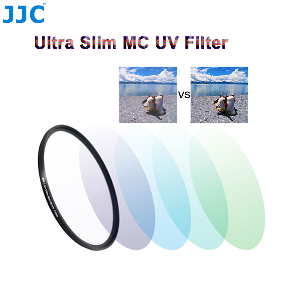 JJC Camera Lens Filters 37mm/40.5mm/43mm/46mm/49mm/52mm/55mm/58mm/62mm/67mm/72mm/77mm/82mm Ultra Slim Multi-Coated UV Filter светофильтр dicom uv slim 72mm