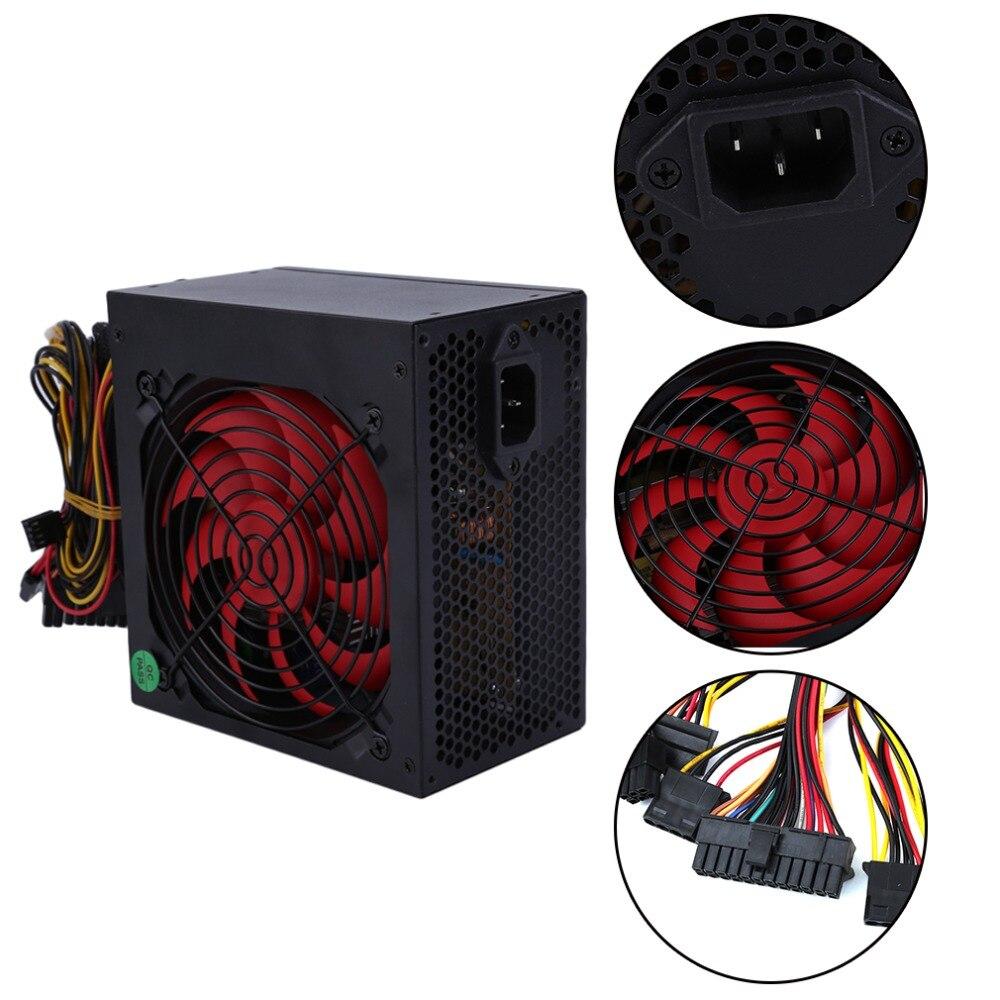 Высокая производительность 600 Вт Max игр PC шасси Питание вентилятор фактический 400 Вт Smart настольный компьютер Питание