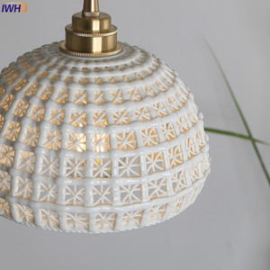 Image 5 - IWHD Japanese Nordic Style Modern Pendant Lights Fixtures Dinning Living Room White ceramics Hanging Lamp Lamparas Vintage