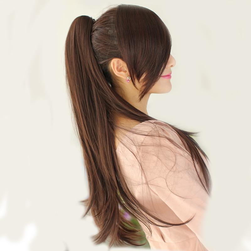 SHANGKE 24 '' Длинный прямой конский хвост - Синтетические волосы - Фотография 6
