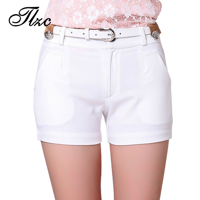 White Office Lady Leisure Skinny Shorts Large Size S-3XL 2017 Fashion New Modern Women Career Short Trousers