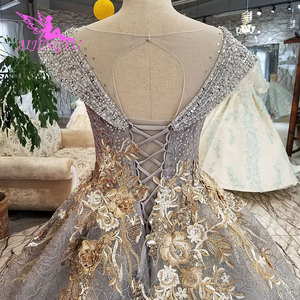 Image 5 - AIJINGYU הטוב ביותר שמלות כלה ארוך לבן עם מחוך אוקראינה גליטר Weddingss סאטן שמלות נסיכת כלה שמלה
