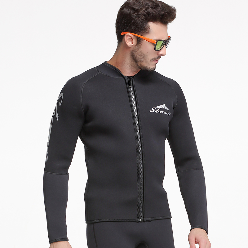 18b97bdb69 SBART 3MM Neoprene Surf Wetsuit Men Long Sleeve Sunscreen Warm Spearfishing  Wetsuits Top Mens For Triathlon Diving Kitesurfing L-in Wetsuit from Sports  ...