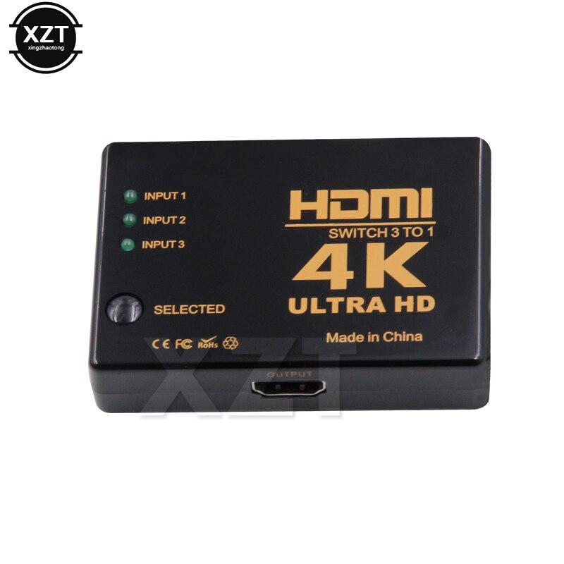 HTB16qYaXMjN8KJjSZFgq6zjbVXay 1PCS 3 Port 4K*2K 1080P Switcher HDMI Switch Selector 3x1 Splitter Box Ultra HD for HDTV Xbox PS3 PS4 Multimedia HOT sale