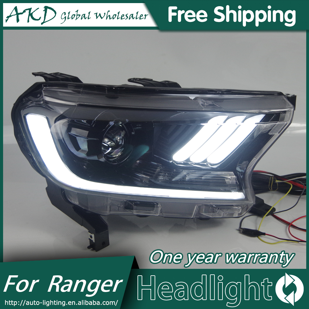 AKD Car Styling Head Lamp for Ford Ranger mustang Headlights LED Headlight ANGEL EYES DRL Bi-Xenon Lens HID Headlamp assembly akd car styling for nissan teana led headlights 2008 2012 altima led headlight led drl bi xenon lens high low beam parking