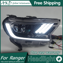 AKD Car Styling Head Lamp for Ford Ranger mustang Headlights LED Headlight ANGEL EYES DRL Bi-Xenon Lens HID Headlamp assembly
