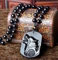Obsidian Stone Wolf Design Pendant Necklace,hip-hop  Wolf Totem Pendant Jewelry For Wolves Lover