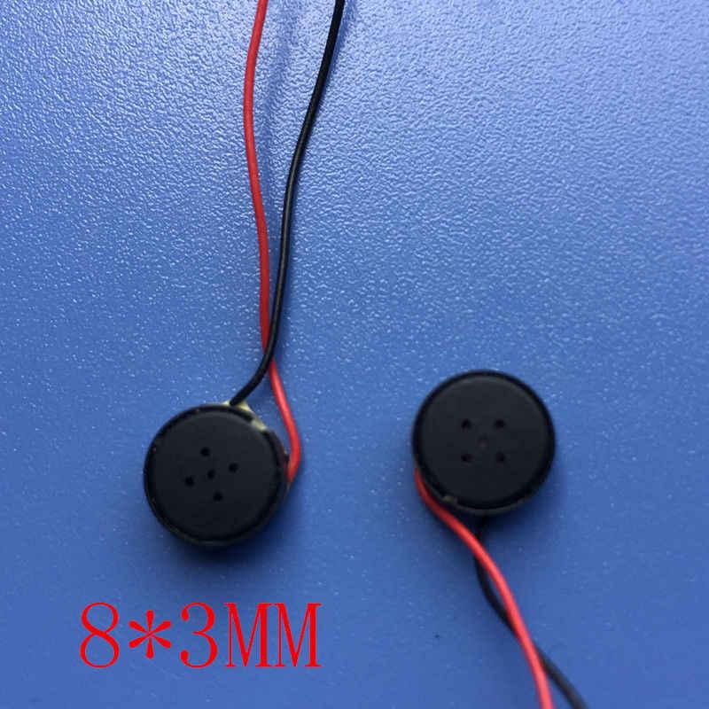 2 sztuk Micro 8mm 8Ohm 1W radiowy woofer tuba głośnikowa bluetooth audio głośnik