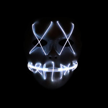LED Light Mask Up from The Purge Election Year Great for Festival Cosplay Halloween Costume 2018 New Year Cosplay