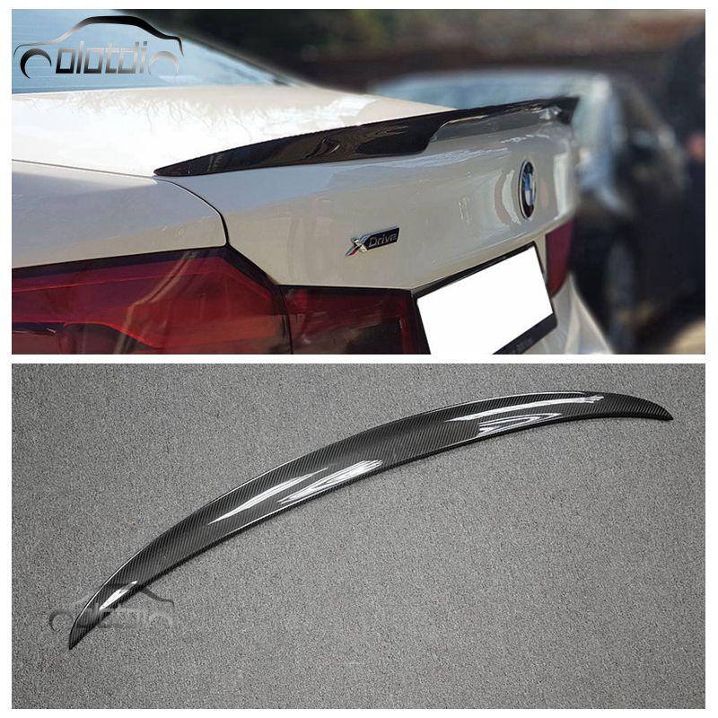 Car Styling Carbon Fiber Rear Wing Spoiler Splitter For BMW 5 Series G30 car accessories d1rc drr 01 1 10 rear drive drift car vehicle carbon fiber chassis car accessories parts s128411