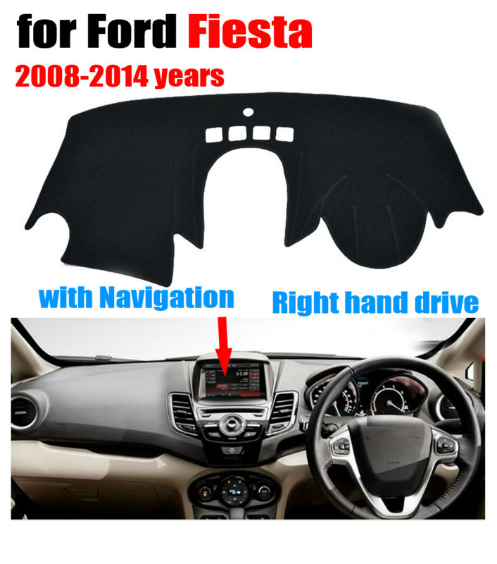Car dashboard covers mat for Ford Fiesta ST with navigation 2008-2014 Right hand drive  sc 1 st  AliExpress.com & Online Get Cheap Ford Fiesta Car Cover -Aliexpress.com | Alibaba Group markmcfarlin.com