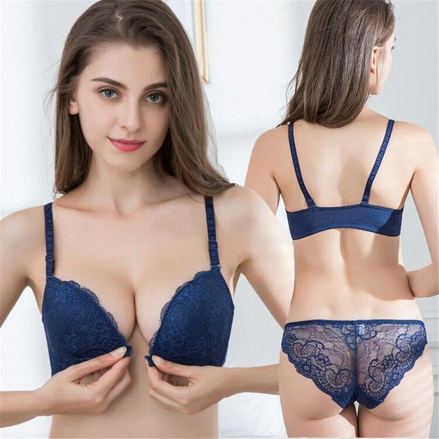 Embroidery Push Up Bra Set Sexy Lingerie