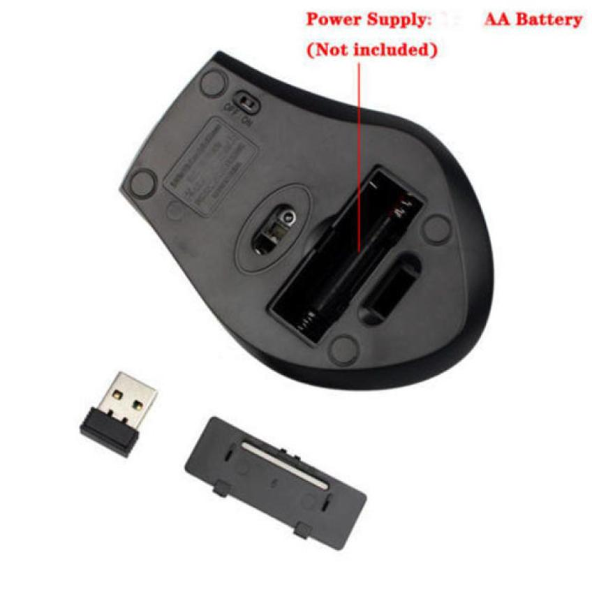 HIPERDEAL New 2.4GHz 6D USB Wireless Optical Gaming Mouse 2000DPI Mice For Laptop Desktop PC 18Apr04