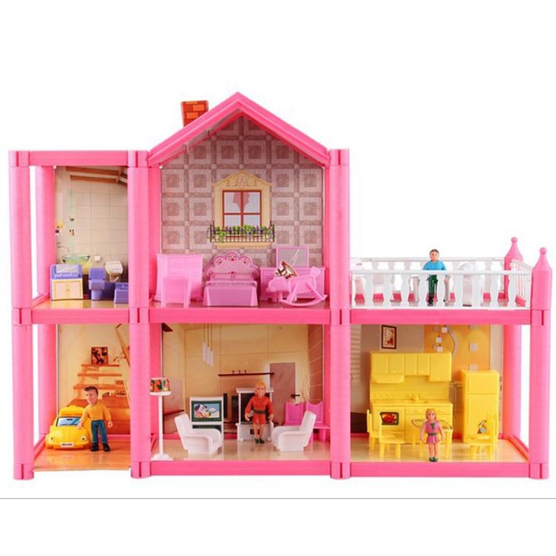 Yeni DIY Aile Bebek Evi Bebek Aksesuarları Oyuncak Ile Minyatür - Bebekler ve Aksesuarlar - Fotoğraf 1