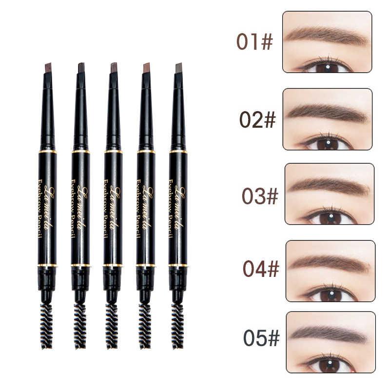 Nueva marca de cejas tinte cosmética Natural de larga duración pintura ceja del tatuaje impermeable negro marrón lápiz de cejas maquillaje