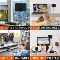 hdtv דיגיטלי 960 מיילס טלוויזיה אנטנה אנטנה טלוויזיה מקורה טווח אנטנה HDTV Amplified דיגיטלי עם 4K HD1080P DVB-T Freeview HD Mini אנטנות i (4)