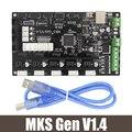 4 camadas do PWB placa controladora MKS Gen mainboard integrado V1.4 compatível Ramps1.4/suporte a4988 Mega2560 R3/DRV8825/TMC2100