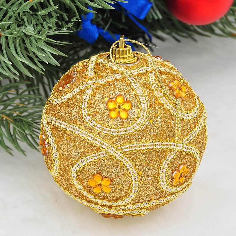 Sequined dress up Christmas balls Christmas ornaments 8cm high end luxury  Christmas tree ornaments 25g arranged-in Ball Ornaments from Home & Garden  on ... - Sequined Dress Up Christmas Balls Christmas Ornaments 8cm High End