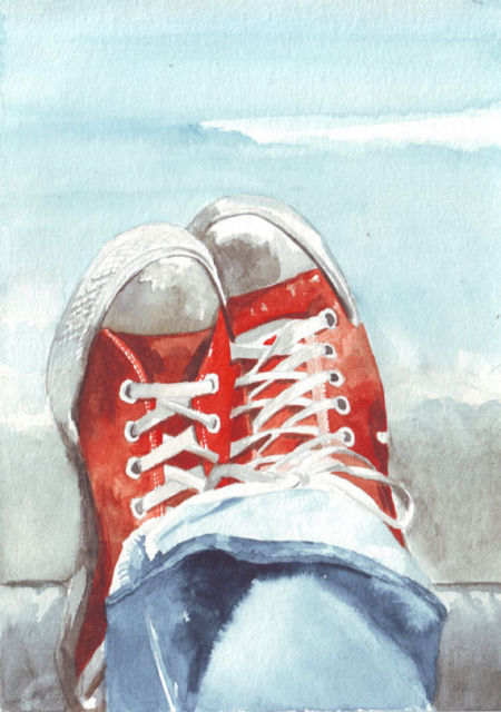 eef507630e89c US $68.89 |Print watercolor art painting Converse Shoes Sneakers C002 trong  Print watercolor art painting Converse Shoes Sneakers C002 từ Vẽ Tranh ...