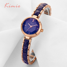 KIMIO Imitation Ceramic Gold Watches Women Fashion Watch 2017 Brand Luxury Quartz-watch Wristwatches Women's Watches For Women