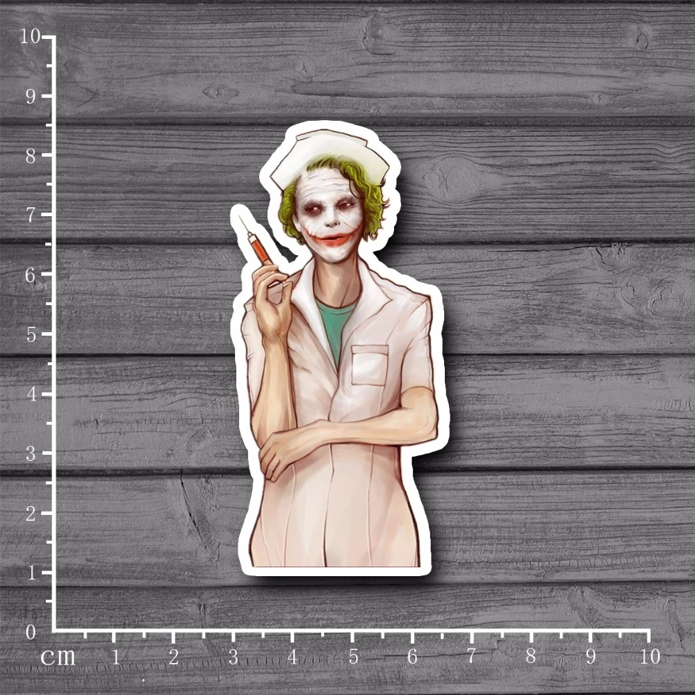 Spoof Nurse Batman Heath Ledger Notebook Kids Toys Stationery Stickers Car Styling Laptop Skateboard Home Decals Sticker[Single]