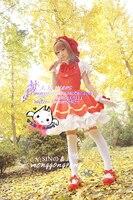 Cardcaptor Sakura kinomoto sakura cosplay costume Magical red dress