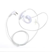 3 Pcs White Wired 2 Pins Earphones PTT Microphone Headset For Kenwood TK Two Way Radio Earpiece Earphones