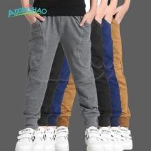 Aixinghao Adolescentes Garçons Pantalon Coton Poches Enfants Sport Pantalon Pour garçons Solide Automne 6 8 10 12 Année Enfants Vêtements garçons