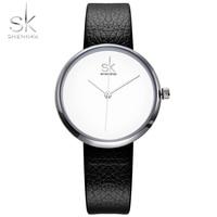 Shengke New Brand Fashion Leather Band Women Watches Casual Style Ladies Wristwatches Relogio Feminino Quartz Watch