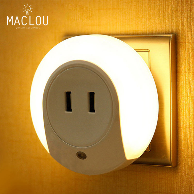 Modern Usb Double Charger For Mobile Phone Led Night Light