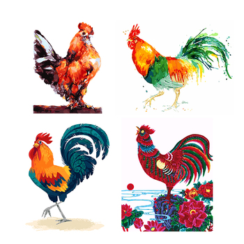 Needlework DIY DMC cross stitch painting 14CT unprinted chicken embroidery Counted Cross-Stitch cotton thread Christmas 1014