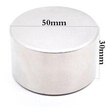 цена на Neodymium magnet 50x30 N52 super strong round magnet rare earth 50*30 mm welding search powerful permanent gallium metal N35 N40