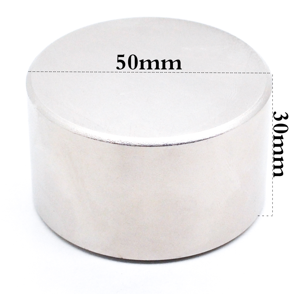 Neodymium magnet <font><b>50x30</b></font> <font><b>N52</b></font> super strong round magnet rare earth 50*30 mm welding search powerful permanent gallium metal N35 N40 image