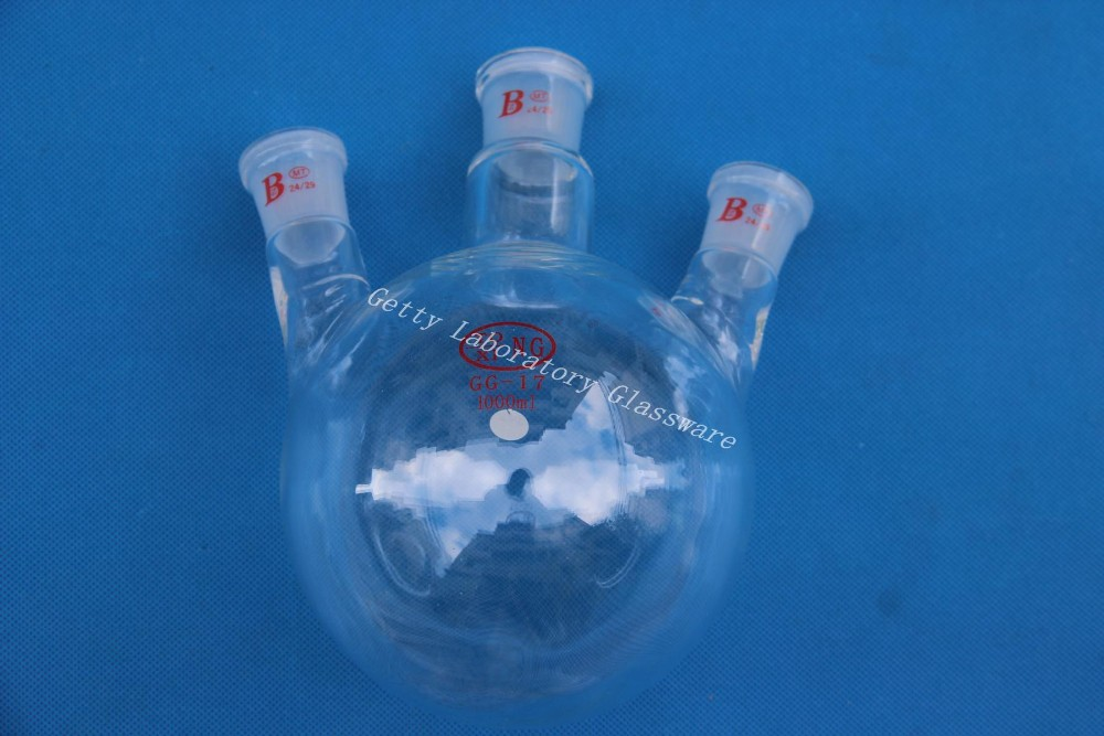 1000ml (1L) 3-neck (three-neck) Round Bottom Flask, Joint 24/29,heavy Wall (chemical Instruments)