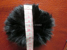 Free Shipping/ Real Rabbit Fur ponytail holder hair band scrunchie  black