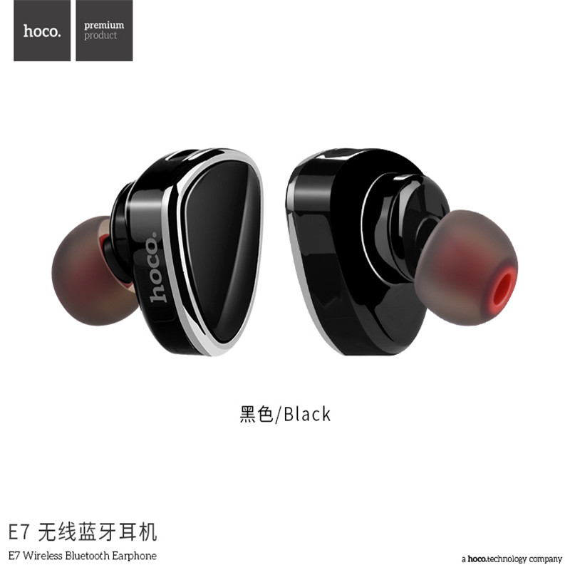 HOCO E7 Invisible Mini Bluetooth Earphone Earbud Wireless Sport Music in-ear Headset with Mic For Xiaomi iPhone MP3 bluetooth earphone mini wireless stereo earbud 6 hours playtime bluetooth headset with mic for iphone and android devices