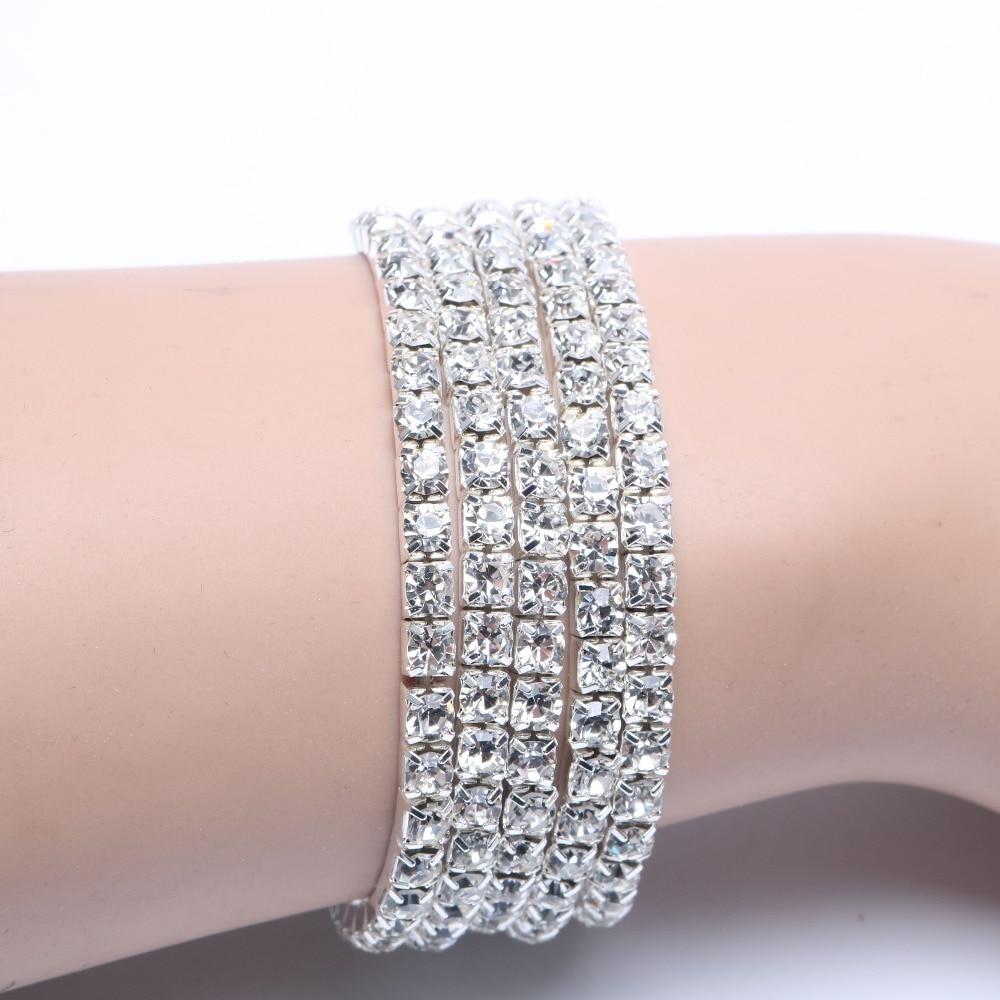 5pcs/lot Crystal Bracelets Promotion Fashion Chic Single Row ...