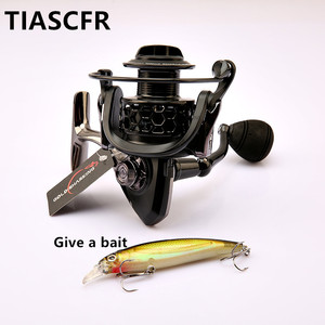 Image 2 - TIASCFR Spinning Fishing Reel Metal 14+1BB XS1000 7000 Series Water Resistance Ultra Light Reel High Gear Ratio Spinning Wheel