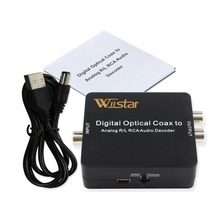 лучшая цена Digital Audio Decoder Digital to Analog Converter Optical SPDIF to L/R Audio 3.5mm Audio Support PCM 5.1 Dolby Digital & DTS