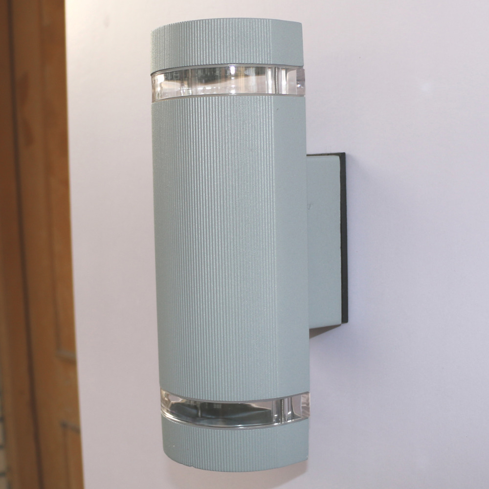 14w semi cylinder up down indoor outdoor exterior garden for Exterior up down wall light