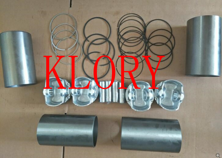 Four matching  (Cylinder Liner Piston ring piston pin) for great wall HAVAL H6 c50 4G15T engine jiangdong single cylinder engine zh11133nd set of engine piston pin piston rings circlip cylinder liner water sealing ring