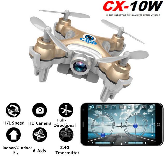 Cheerson CX-10W CX10W Mini RC Quadcopter Zangão com Câmera Drones Helicóptero DO RC CX10 Update Versão Drone BNF Helicóptero de Brinquedo