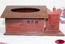 [Правительство] Палисандр Деревянная коробка ткани красный резьба по дереву Бутик стиль насосная лоток Украшения Дома практичные подарки