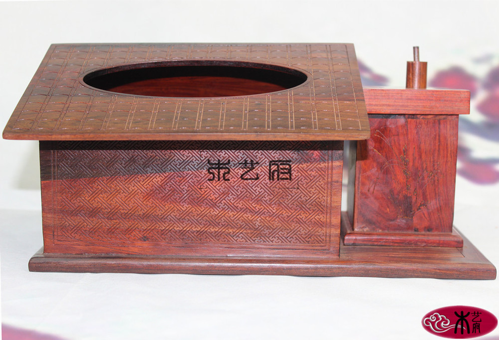 [Government] Rosewood Wooden tissue box red wood carving Boutique style pumping tray Home Decoration practical gifts
